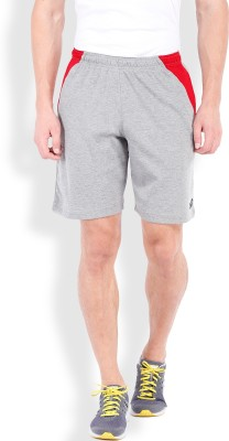 2go Solid Men's Grey, Red Sports Shorts