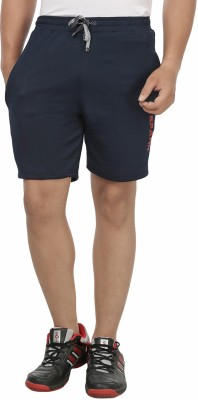 SPAWN Solid Men's Blue Sports Shorts