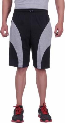 Huggers Solid Men's Black Basic Shorts