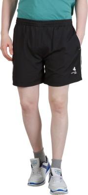 Goodluck Solid Men,s Black, White Sports Shorts
