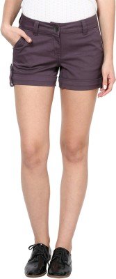 Species Solid Women's Purple Basic Shorts