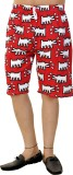 Tantra Printed Men's Red Bermuda Shorts