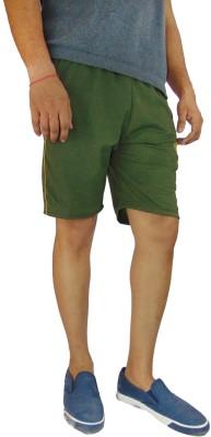 B VOS Self Design Men's Dark Green Basic Shorts