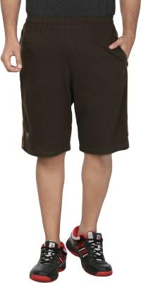 SST Striped Men's Green Basic Shorts