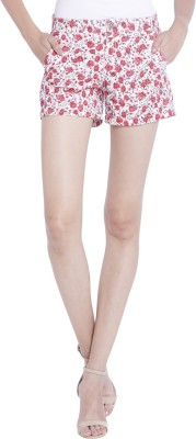 Globus Floral Print Women's Pink Basic Shorts