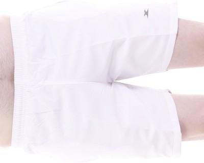 Zagros Solid Men's White Sports Shorts, Cycling Shorts, Gym Shorts
