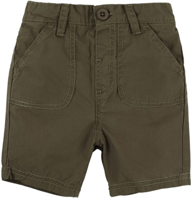 Baby Pure Solid Baby Boy's Green Cargo Shorts