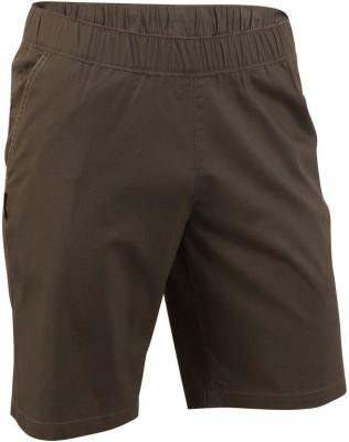 Quechua Solid Men's Green Sports Shorts