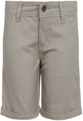 Bells and Whistles Solid Boy's Brown Basic Shorts
