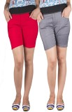iHeart Solid Women's Multicolor Hotpants