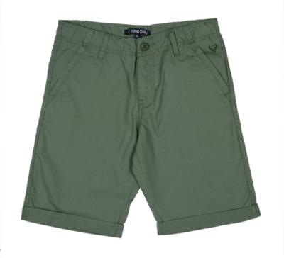 Allen Solly Solid Boy's Dark Green Basic Shorts