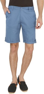 AVOQ-Style Reboot Solid Men's Blue Basic Shorts