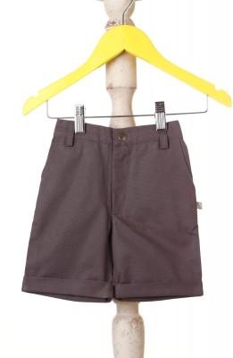 Mi Dulce An,ya Solid Boy's Grey Chino Shorts