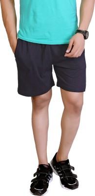 LUCfashion Solid Men's Black Basic Shorts