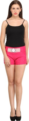 Star Style Self Design Women's Pink Basic Shorts
