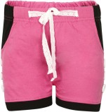 Dreamszone Solid Women's Pink Hotpants