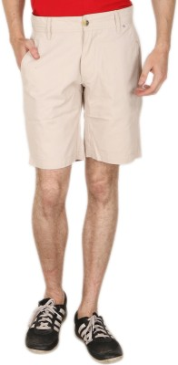 Blimey Solid Men's Beige Chino Shorts