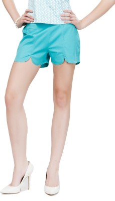 Eavan Solid Women's Light Green Chino Shorts at flipkart