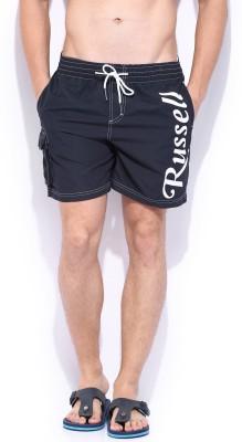 Russell Athletic Solid Men's Dark Blue Swim Shorts