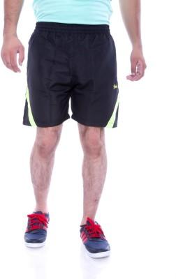 Choice4U Solid Men's Black, Yellow Sports Shorts