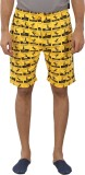 Tantra Printed Men's Yellow Basic Shorts