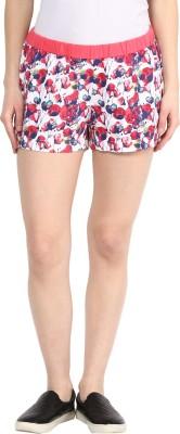 Rose Vanessa Printed Women's Reversible Red Basic Shorts