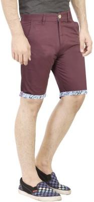 Primo Solid Men's Maroon Basic Shorts, Beach Shorts, Bermuda Shorts