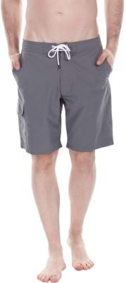 Zobello Self Design Mens Grey Swim Shorts