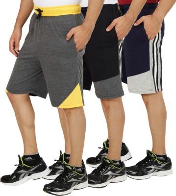 Sanvi Traders Solid Men's Multicolor Sports Shorts