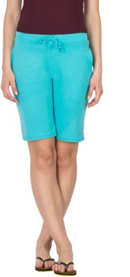 Lovable Solid Women's Blue Basic Shorts