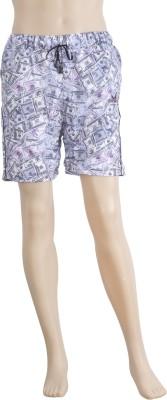 Karwan International Printed Men's Pink Sports Shorts