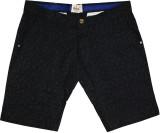 Rasonn Printed Men's Black Basic Shorts