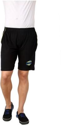 Style Guns Clothing Solid Men's Black Sports Shorts