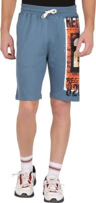 GUTS N GLORY Printed Men's Blue Sports Shorts