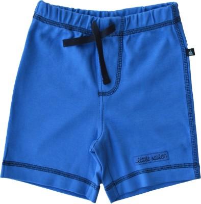 Babeez World Solid Baby Boy's Blue Basic Shorts