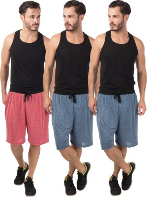 Meebaw Self Design Men,s Red, Dark Blue, Dark Blue Sports Shorts