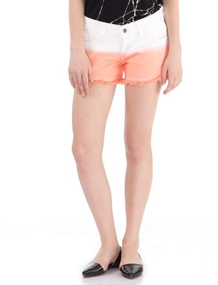 Pepe Jeans Solid Women's Orange Basic Shorts