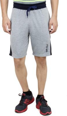 Style Guns Clothing Solid Men's Grey Sports Shorts