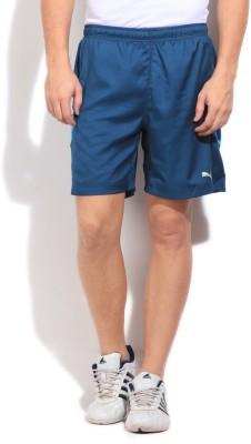 Puma Solid Mens Blue Sports Shorts