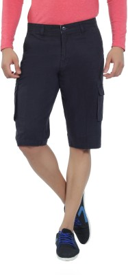Live In Solid Men's Blue Cargo Shorts