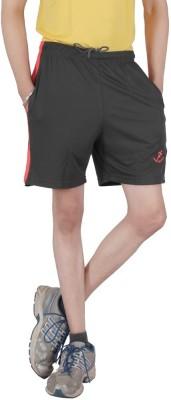 Awack Solid Men's Dark Green Sports Shorts