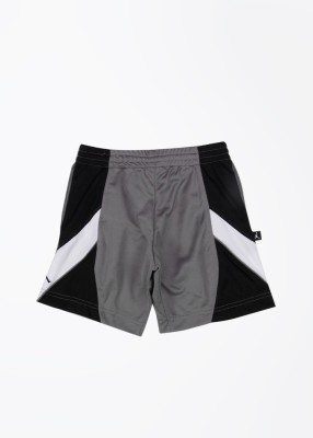 Jordan Kids Solid Boy's White, Black, Grey Sports Shorts