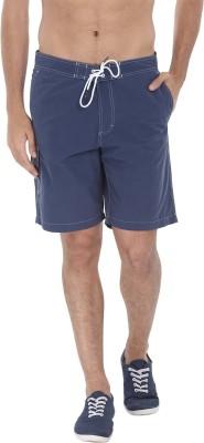 Zobello Self Design Mens Blue Swim Shorts