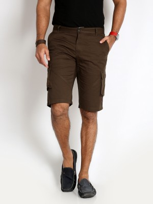Rodid Solid Men's Dark Green Cargo Shorts