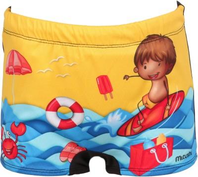 Mitushi Products Graphic Print Boy's Blue Swim Shorts