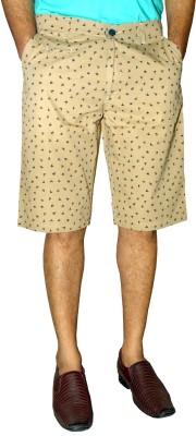 Monted Club Printed Men's Black, Gold, Blue Basic Shorts