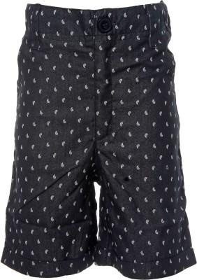 Babeez World Printed Boy's Black Basic Shorts