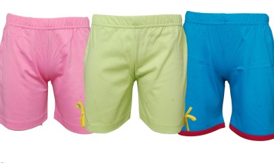 Little Star Solid Girl,s Multicolor Basic Shorts
