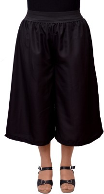 V3ishop Solid Women's Black Culotte Shorts