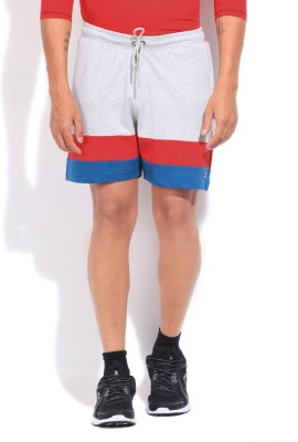 Fila Striped Men's Grey, Blue, Red Sports Shorts